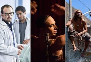 Julio Andrade nos filmes 'Sob pressão', 'Elis' e 'Maresia' Foto: Divulgação