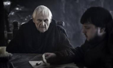 O ator Peter Vaughan em cena de 'Game of thrones' Foto: Divulgação