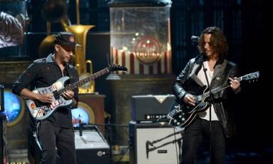 Tom Morello e Chris Cornell em foto de 2013 Foto: KEVIN WINTER / AFP