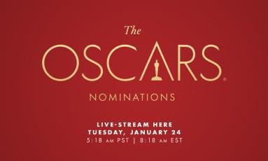 Cartaz oficial com o horário em que será feito o anúncio dos indicados ao Oscar Foto: Divulgação