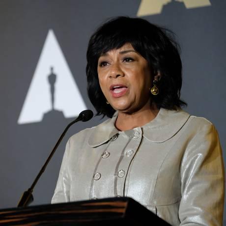 A Presidente da Academia de Hollywood, Cheryl Boone Isaacs Foto: CHRIS DELMAS / AFP