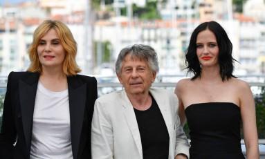 Emmanuelle Seignier,Roman Polanski e Eva Green Foto: ALBERTO PIZZOLI / AFP