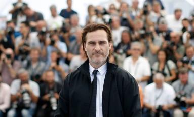 Joaquin Phoenix foi a Cannes para apresentar o filme 'You were never really here' Foto: STEPHANE MAHE / REUTERS