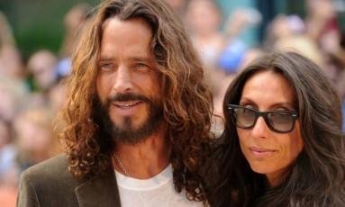 Chris Cornell e Vicky Cornell Foto: Reprodução