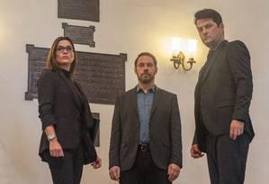 Bruce Gomlevsky (centro) no filme 'Polícia Federal' Foto: Ique Esteves / Divulgação
