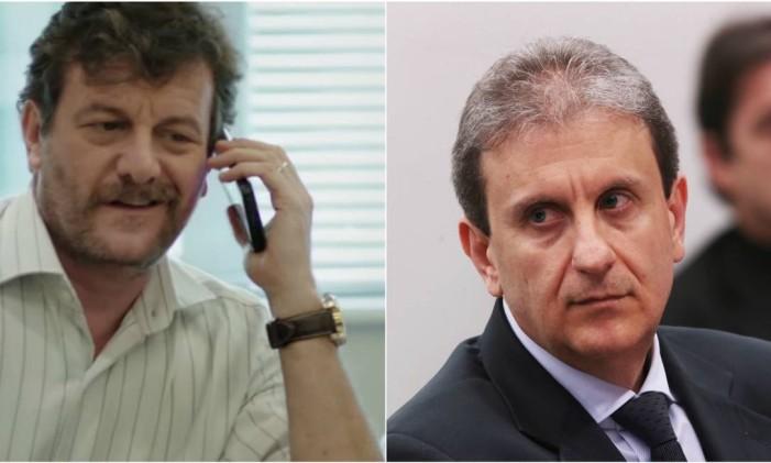 Roberto Birindelli (à esquerda) é Alberto Youssef em 'Polícia Federal' Foto: Reprodução / Jorge William