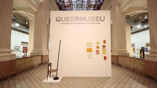 Entrada da mostra Queermuseu Foto: Marcelo Liotti Junior / Divulgação