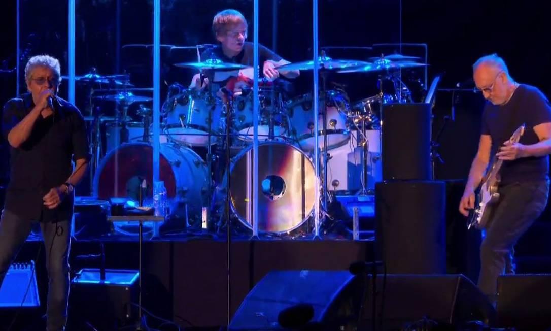 Os fãs brasileiros esperaram quase meia década, mas finalmente viram o The Who ao vivo, no palco do Rock in Rio Foto: Reprodução