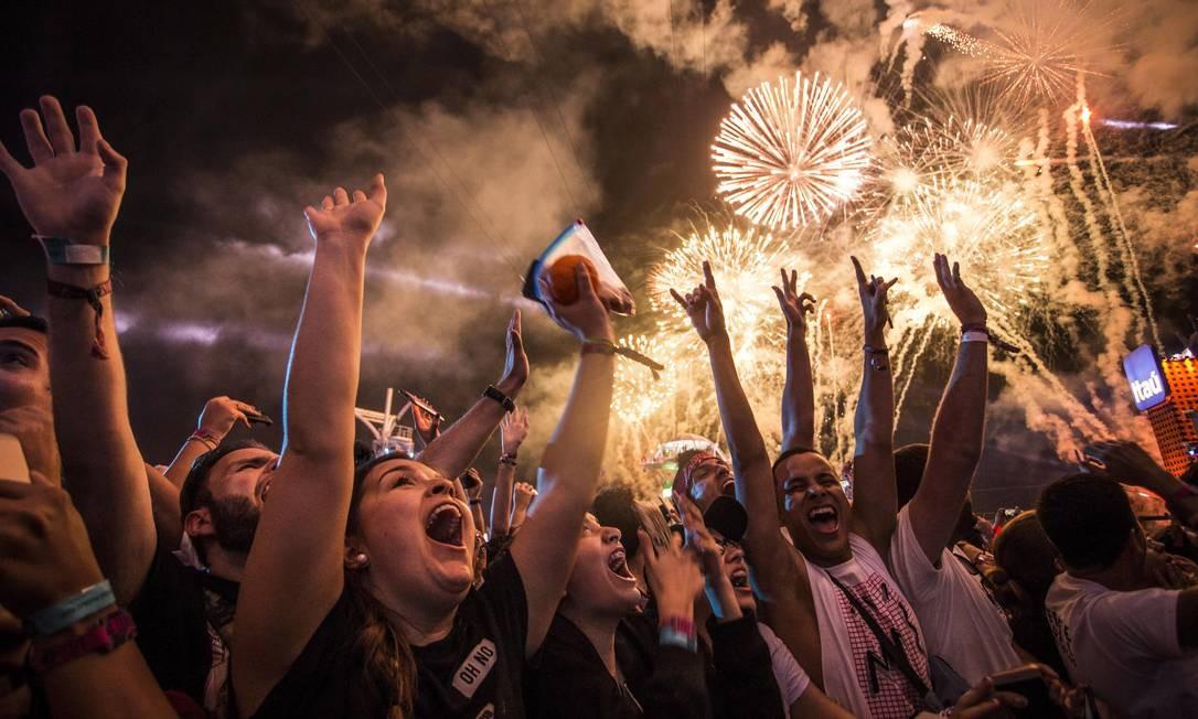 Plateia do Palco Mundo no Rock in Rio de 2017 Foto: Guito Moreto / Agência O Globo