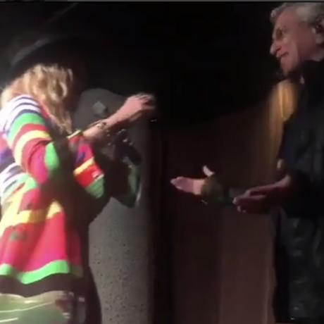Madonna e Caetano Veloso se encontraram em evento no Rio Foto: Instagram