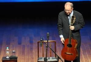 João Gilberto em show de 2008 Foto: Marcos Hermes / EFE