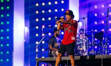 O cantor Bruno Mars em show na Apoteose Foto: Divulgação/RDJ Photos