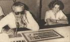 O diretor de TV Gonzaga Blota, ao lado de Janet Clair Foto: Reprodução