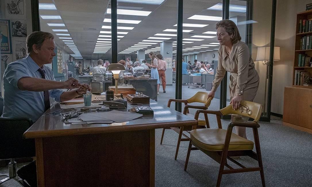 Tom Hanks e Meryl Streep em 'The Post' Foto: Divulgação