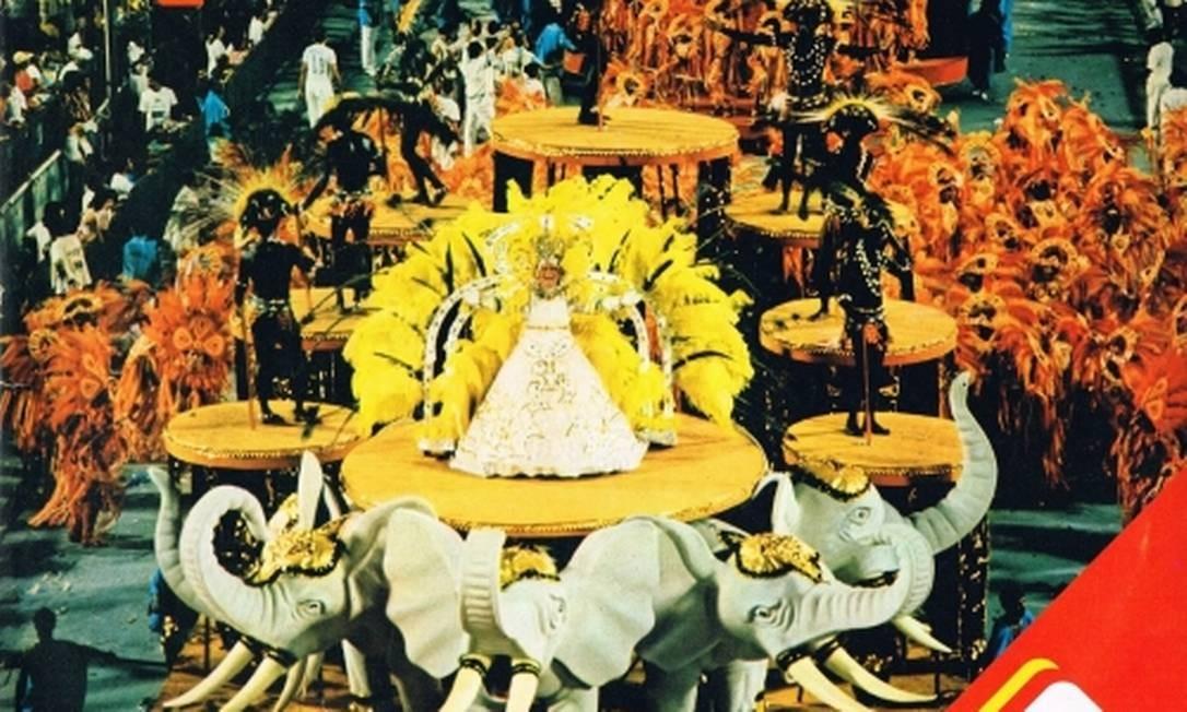 Capa do álbum dos sambas-enredo de 1989 Foto: Reprodução