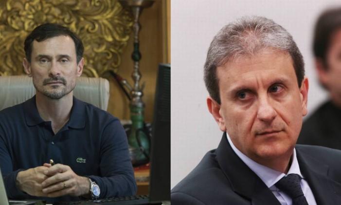 O ator Enrique Diaz e o doleiro Alberto Youssef Foto: Divulgação / Jorge William
