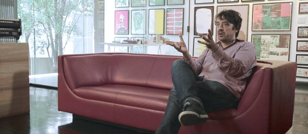 O designer gráfico Gustavo Piqueira Foto: Divulgação
