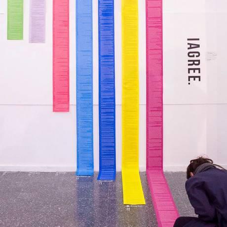 Instalação da exposição