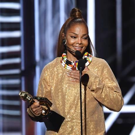 Janet Jackson foi a primeira mulher negra a receber o prêmio Ícone do Billboard Foto: KEVIN WINTER / AFP
