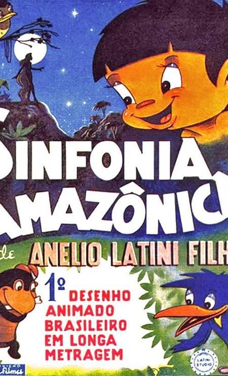1951. O animador Anélio Latini Filho lança 'Sinfonia amazônica' (1951), primeiro longa animado brasileiro exibido para o grande público. O visual foi inspirado no folclore brasileiro Foto: Reprodução