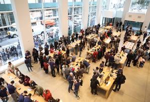 Apple Store, em Nova York Foto: Vanessa Carvalho/Brazil Photo Press/ Agência O Globo / Agência O Globo