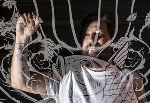 O quadrinista Danilo Beyruth, autor de 'Samurai Shirô' Foto: Edilson Dantas / Agência O Globo