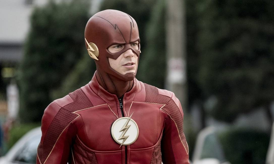 Estrelada por Grant Gustin (ex-'Glee'), 'Flash' conta as aceleradas aventuras do velocista escarlate de Star City. A quinta temporada é exibida pelo Warner Channel às quartas, 21h40m. Foto: Divulgação