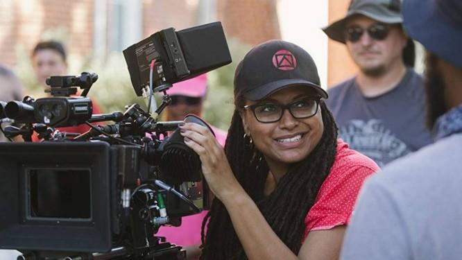 Ava DuVernay no set de 'Selma', filme indicado ao Oscar em 2015 Foto: Divulgação