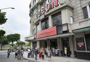 A fachada do Cine Odeon, no Centro do Rio Foto: Ana Branco / Agência O Globo