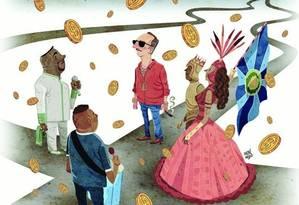 Uma conta que não fecha: a disputa de sambas-enredo Foto: Arte
