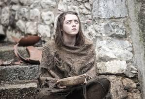Maisie Williams vive Arya Stark em 'Game of Thrones' Foto: Divulgação / Divulgação