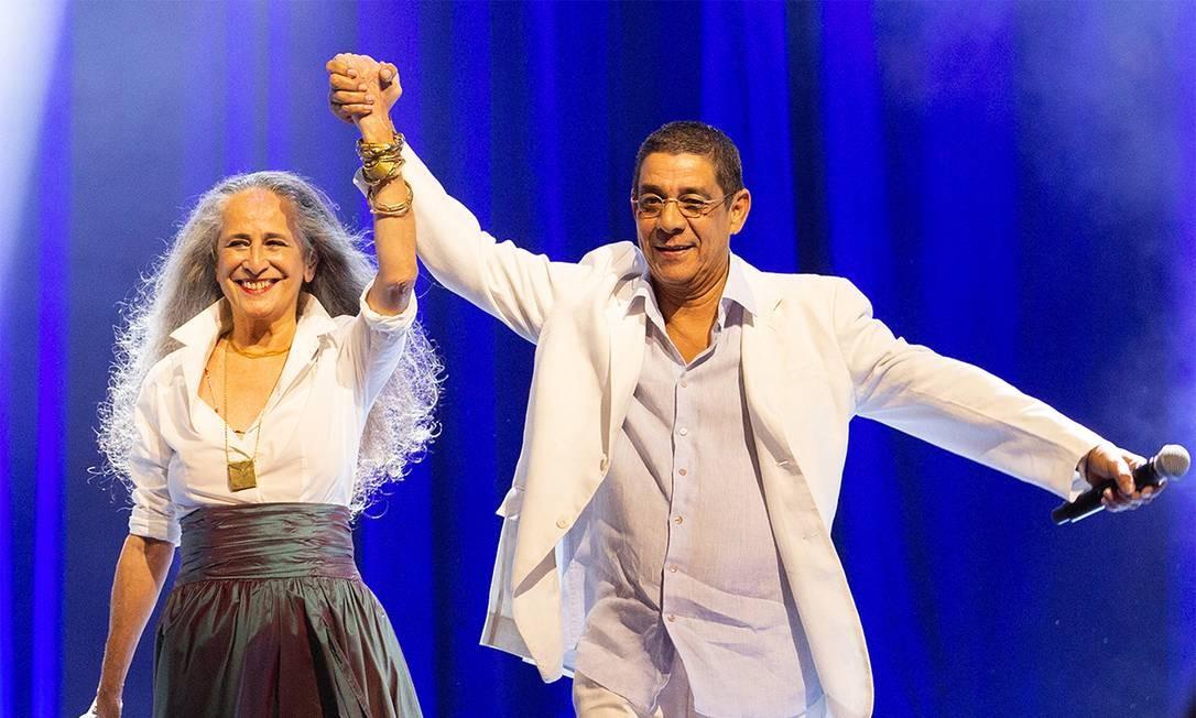 Maria Bethânia e Zeca Pagodinho no DVD