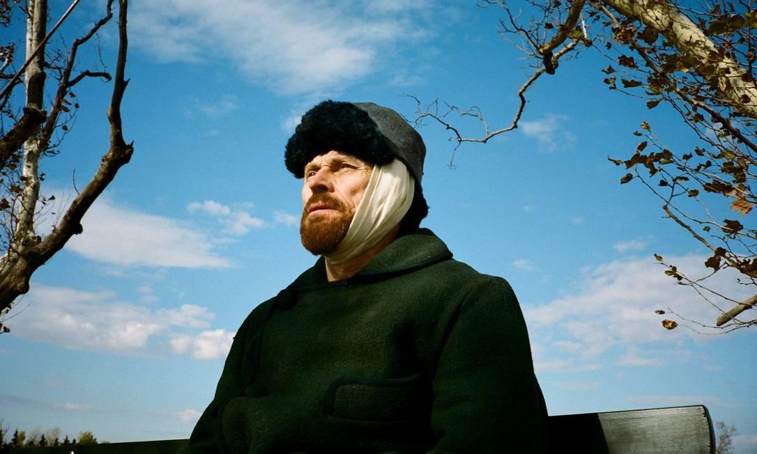'No portal da eternidade': Willem Dafoe recebeu a indicação como melhor ator por sua performance como Van Gogh em seus últimos anos. O longa é dirigirido por Julian Schnabel. Lily Gavin / Divulgação