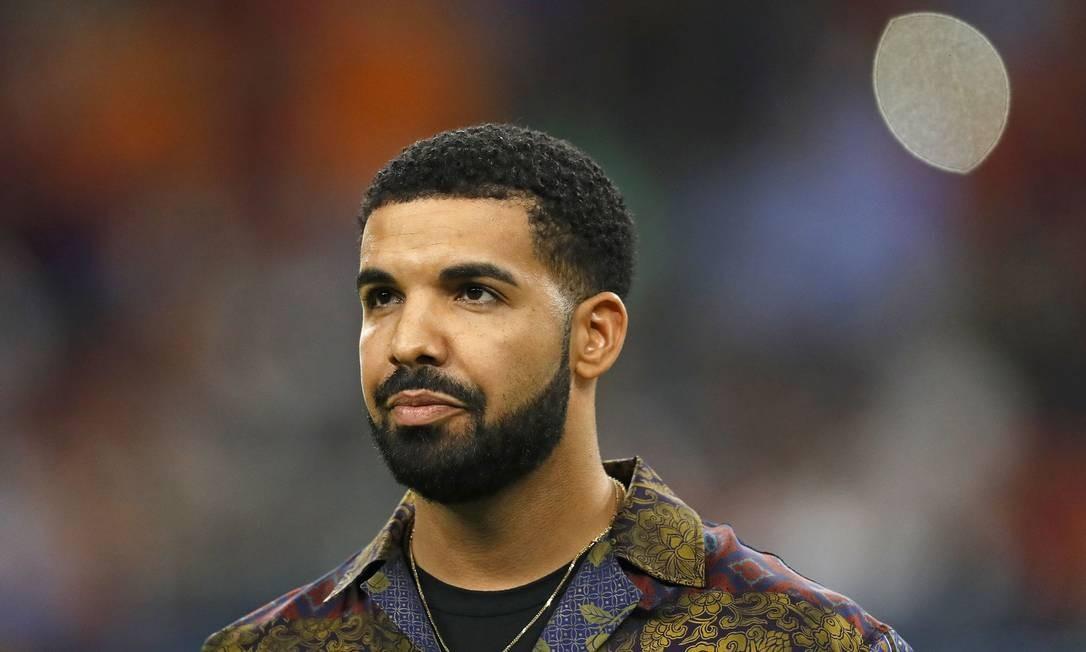 O rapper americano Drake, em 2017 Foto: AARON M. SPRECHER / AFP