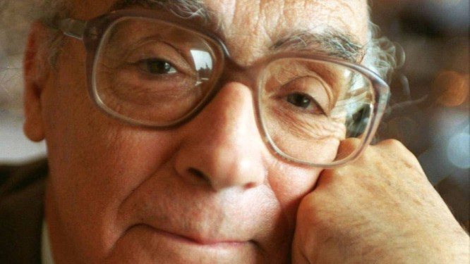 O escritor português José Saramago na Suécia, em 1997 Foto: Bengt Eurenius / AFP