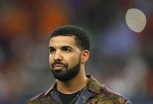 O rapper canadense Drake, em 2017 Foto: AARON M. SPRECHER / AFP