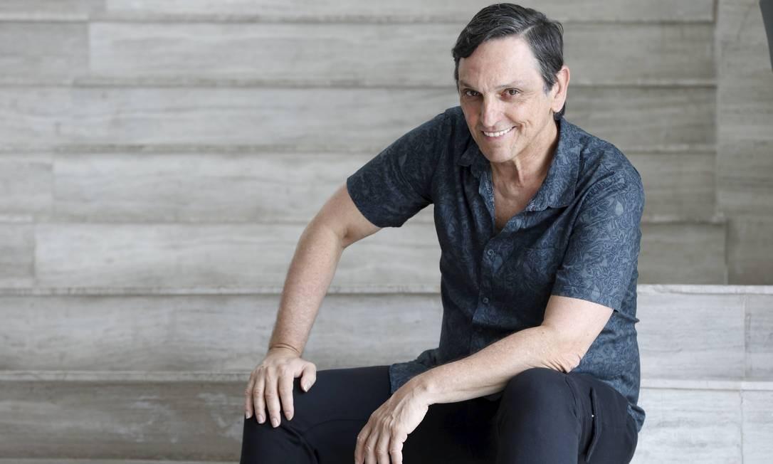 Cantor e ator Paulo Miklos faz 60 anos de idade em plena forma Foto: Domingos Peixoto / Agência O Globo