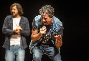 O cantor Rogério Flausino no lançamento do Rock District, na Cidades das Artes Foto: Divulgação/Bleia/I Hat Flash