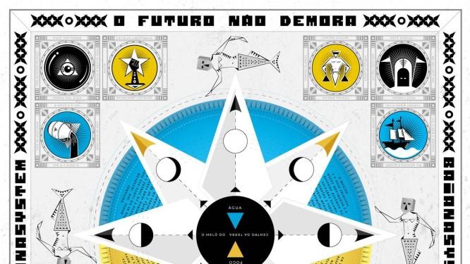 Capa do novo disco do BaianaSystem 'O futuro não demora' Foto: Divulgação/Filipe Cartaxo / Reprodução