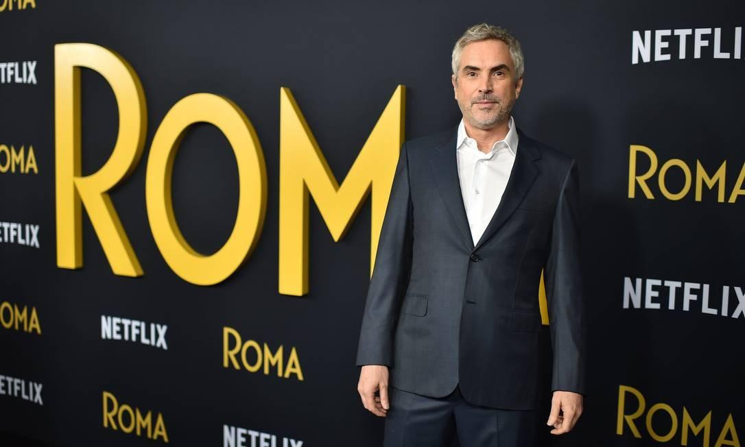 Alfonso Cuarón, diretor de 'Roma', foi um dos cineastas que criticaram a decisão de excluir quatro categorias da transmissão do Oscar Foto: ROBYN BECK / AFP
