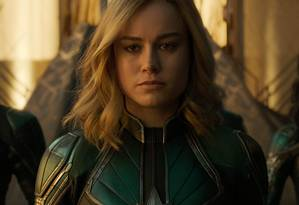 Brie Larson em cena de 'Capitã Marvel' Foto: Divulgação
