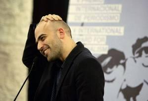 O escritor italiano Roberto Saviano Foto: GUSTAU NACARINO / Divulgação