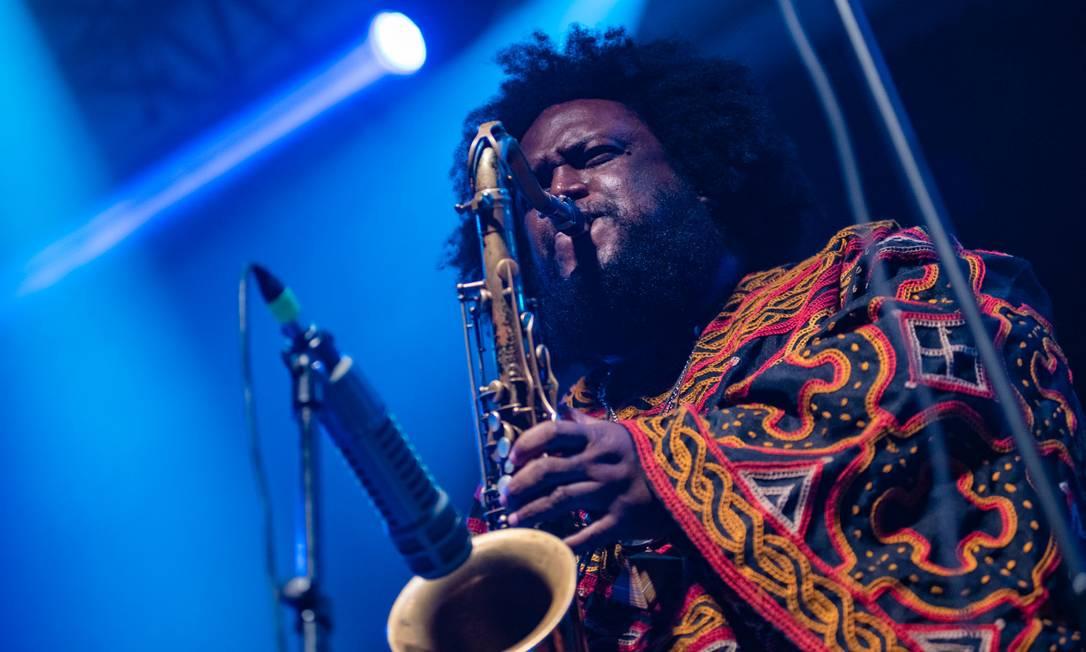 O saxofonista Kamasi Washington toca no Circo Voador Foto: Francisco Costa / Divulgação