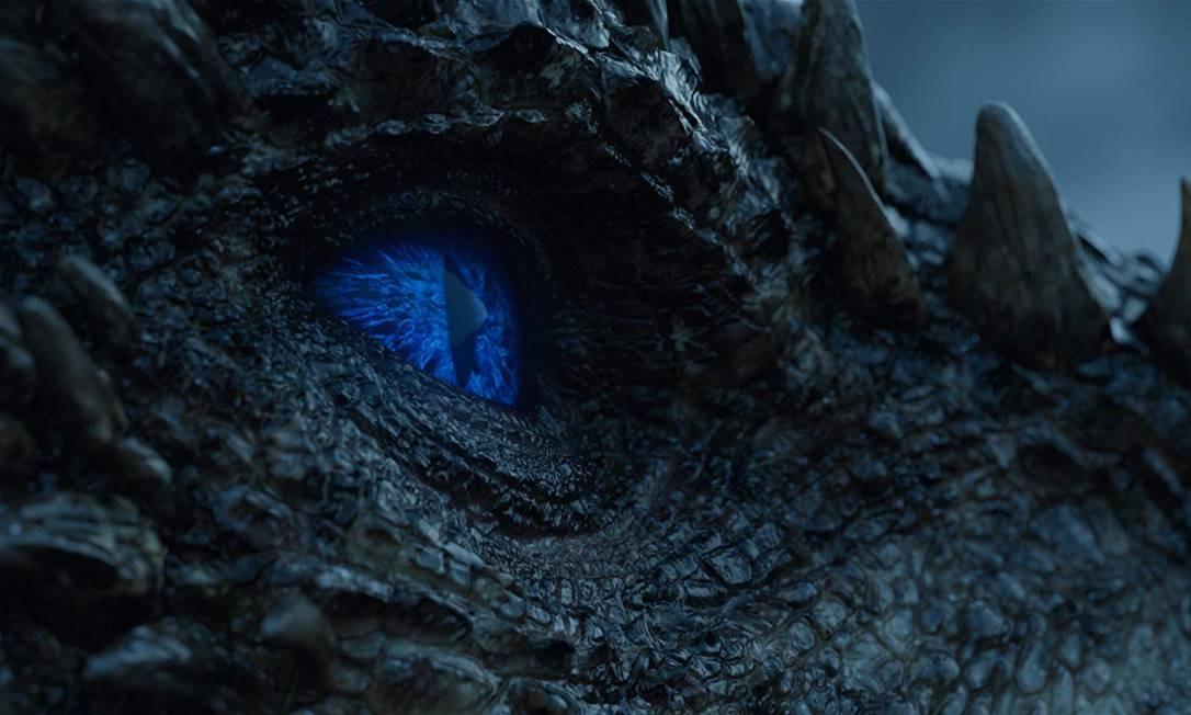 Viserion após ser ressuscitado em 'Game of thrones' Foto: Divulgação