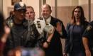 Harvey Weinstein, após sessão no Tribunal de Nova York que decidiu pelo adiamento do julgamento do caso Foto: Stephanie Keith / AFP
