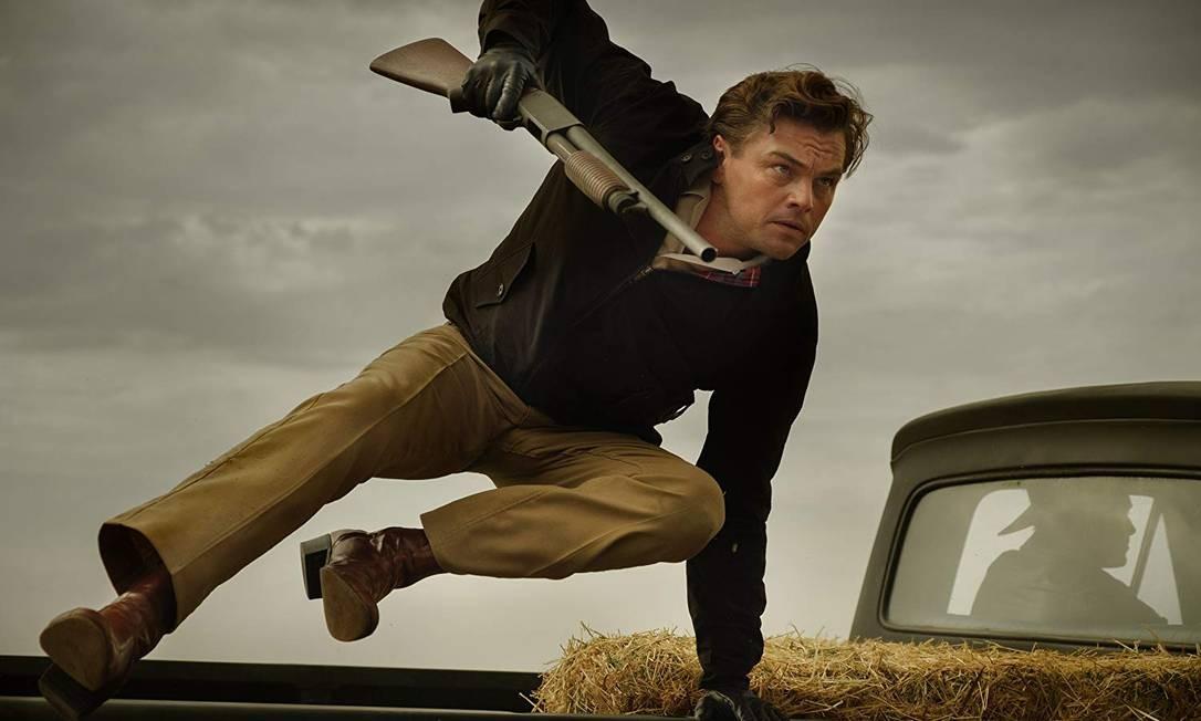 Leonardo DiCaprio em cena de 'Era uma vez em Hollywood', de Quentin Tarantino Foto: Divulgação