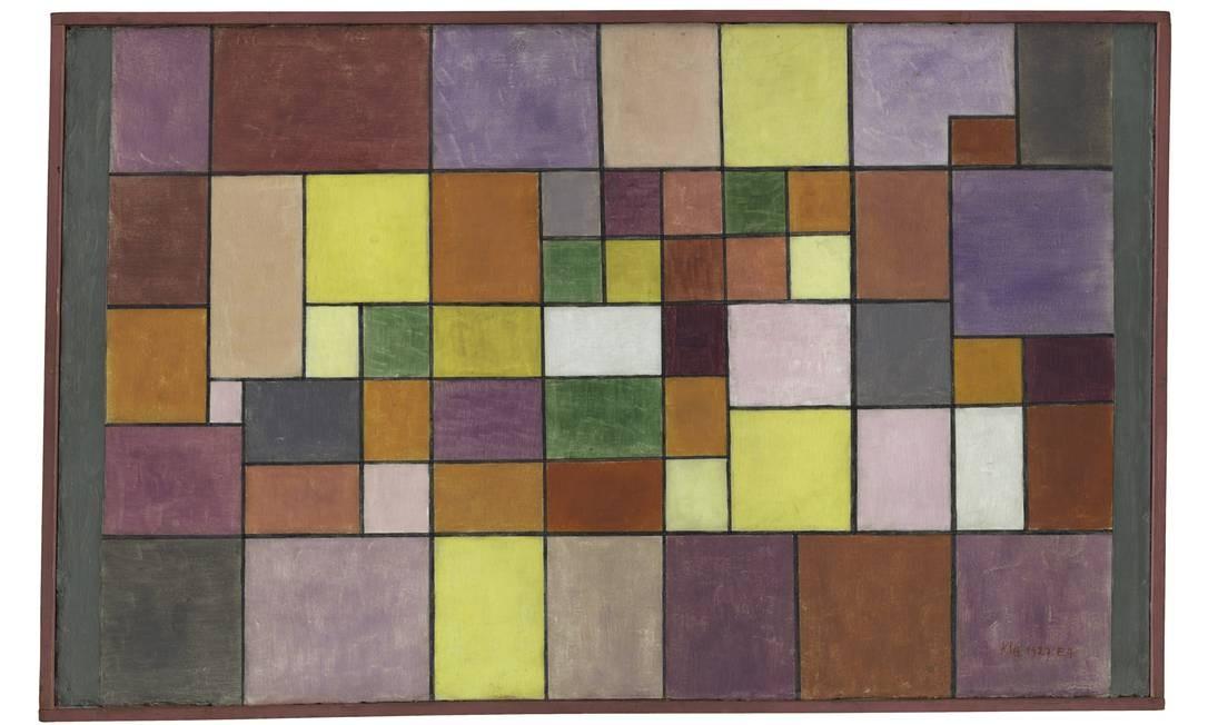 """A tela """"Harmonia da flora setentrional"""", de Paul Klee, é parte da exposição """"Equilíbrio instável"""", no CCBB Foto: ABMT, Uni Basel, 2005 / Divulgação"""