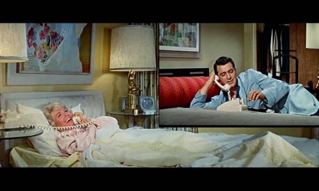 """Por """"Confidências à meia-noite"""" (1959), um dos três filmes co-estrelados com Rock Hudson, Doris Day teve sua primeira e única indicação ao Oscar de melhor atriz. Foto: Reprodução"""