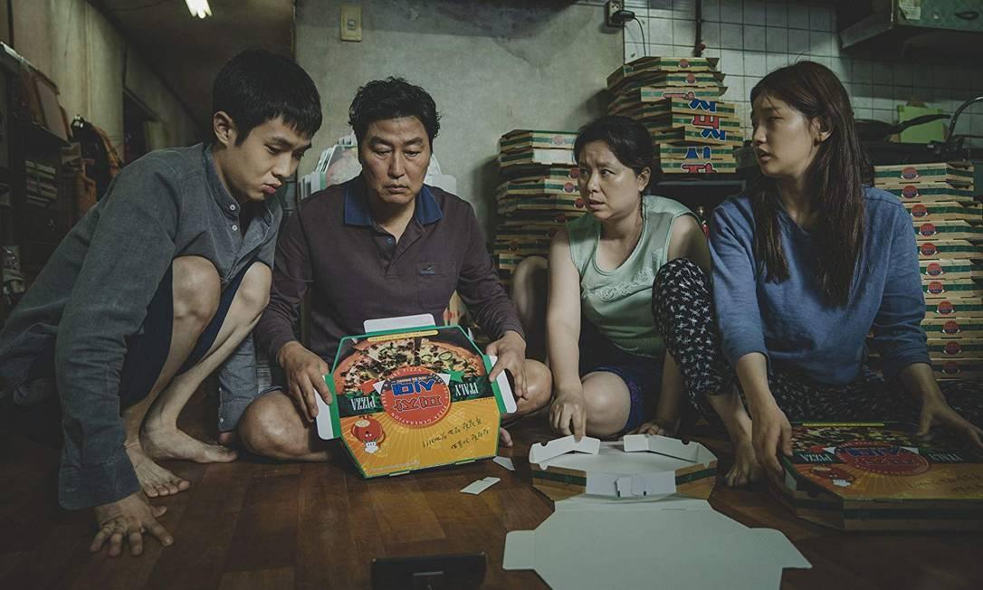Cena de 'Parasite', filme de Joon Ho Bong, que concorre ao Oscar de melhor filme Foto: Divulgação