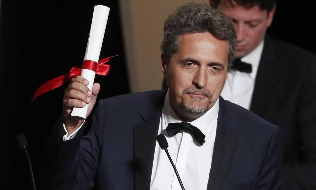 """Kleber Mendonça Filho recebe o Prêmio do Júri por """"Bacurau"""" Foto: ERIC GAILLARD / REUTERS"""